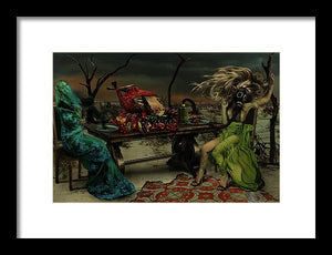 Two Women in Purgatory at The Last Supper-Framed Fine Art Print