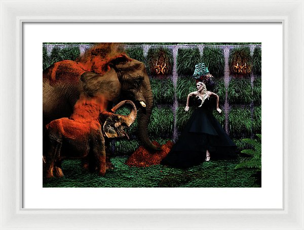 Uncertain Sanctuary - Surreal Fashion Framed Fine Art Portrait Print | The Photographist™