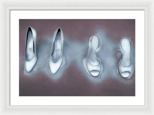 Winter White Stilettos Vol II - Surreal Fashion Framed Fine Art Print | The Photographist™