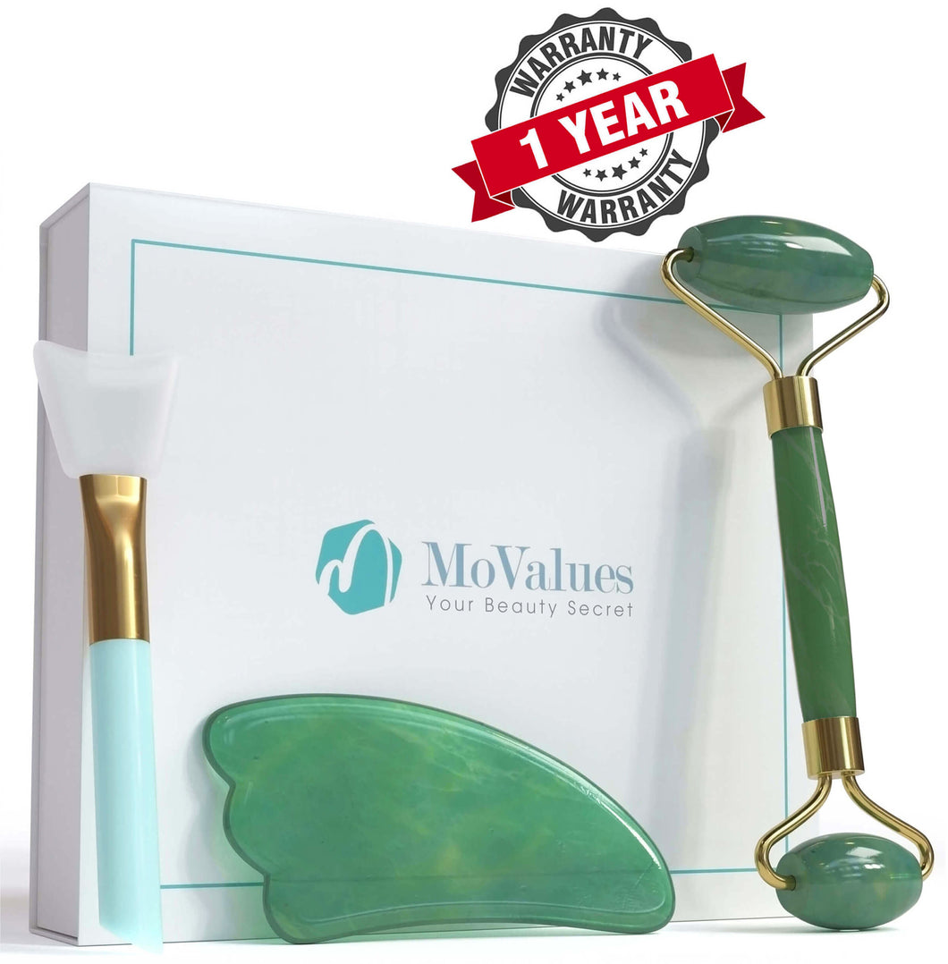 3-In-1 Jade Roller and Gua Sha Set