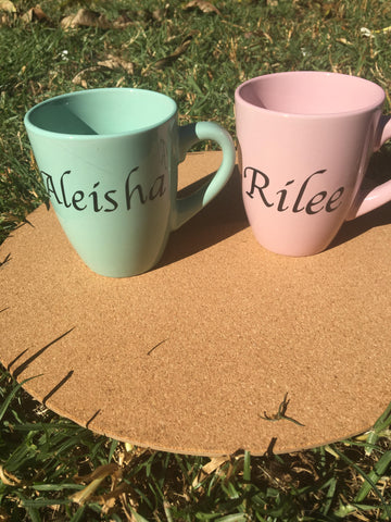 Personalised name mugs