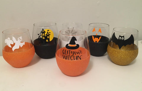 Halloween themed glasses