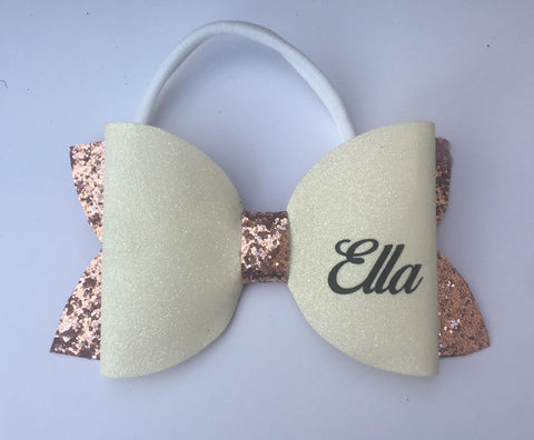 Extra large bow with personalisation