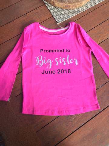 Big sister/Big brother shirts