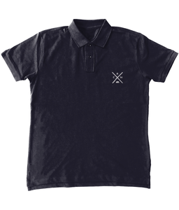 Black & Navy Polo Shirt Men's Standard RCH X
