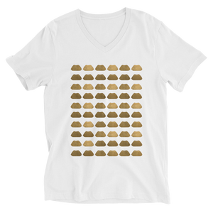 Gold Lip V-Neck T-Shirt Unisex