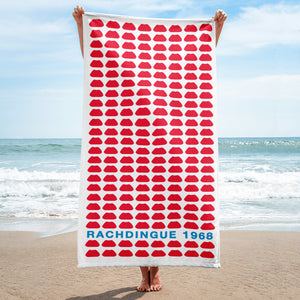 Beach Towel Lip Rachdingue 1968