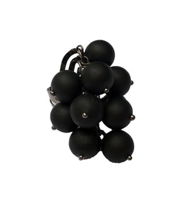Black Matte Bauble Ring