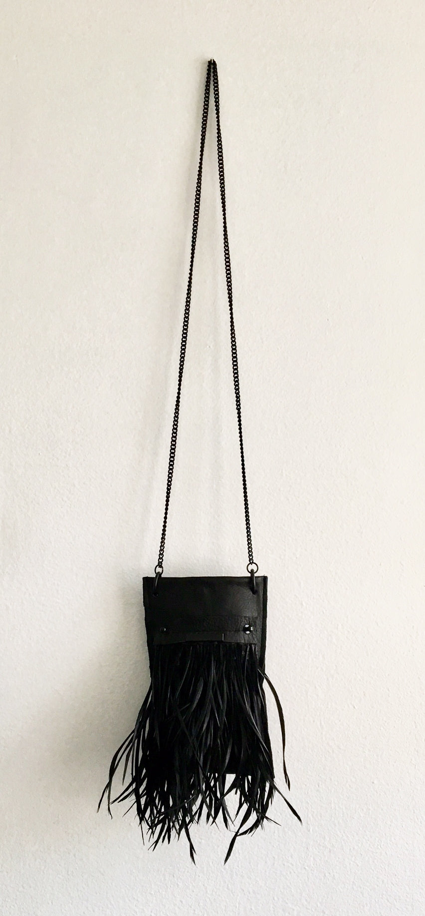 David Galan Black Feather Crossbody