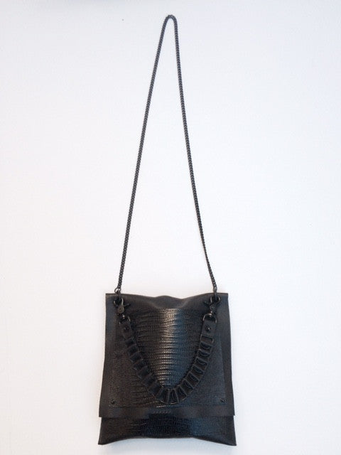 David Galan Lizard Crossbody