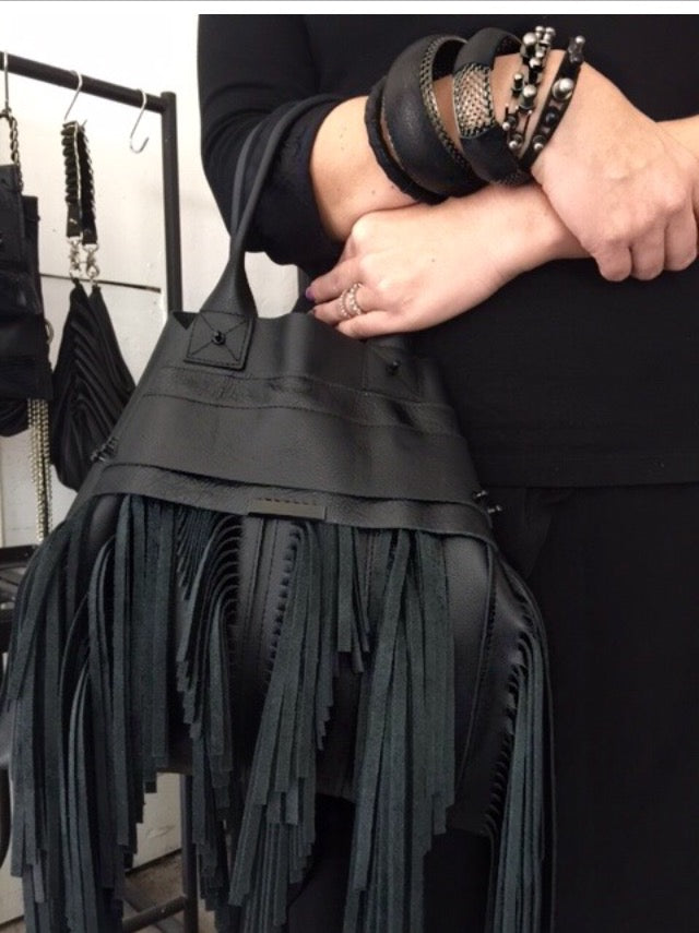 David Galan Fringed Totebag