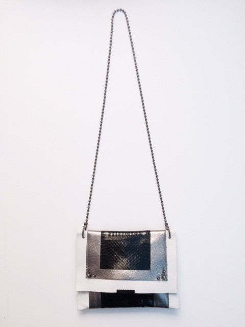 David Galan Pewter Clutch
