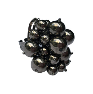 Gunmetal Bauble Ring
