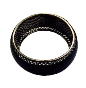 Black Leather Covered Screen Bracelet