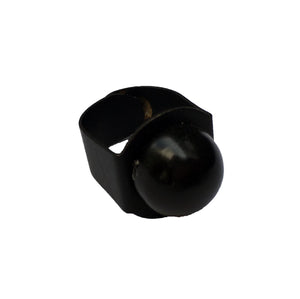 Black Single Sphere Ring