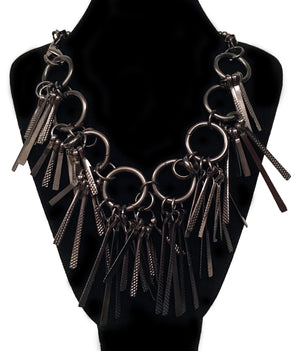 Nickel Spine Statement Necklace