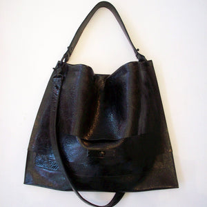 David Galan Faye Work Case Hobo Bag Large