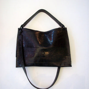 David Galan Faye Work Case Hobo Bag Small