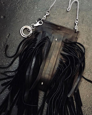 Fringed Leather crossbody