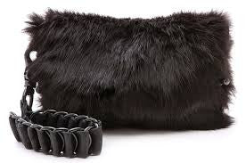David Galan Fur Night Clutch