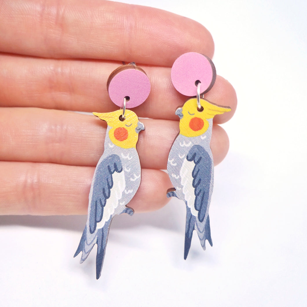 COCKATIEL EARRINGS