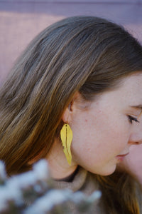 GUM LEAF EARRINGS