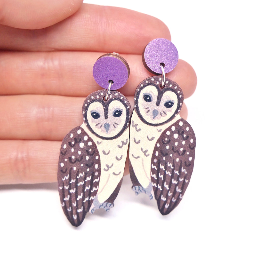 SOOTY OWL EARRINGS
