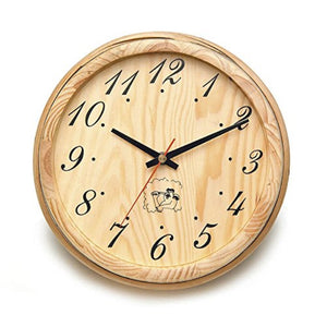 Sauna Accessory Handcrafted Analog Clock for Sauna in Finnish Pine Wood