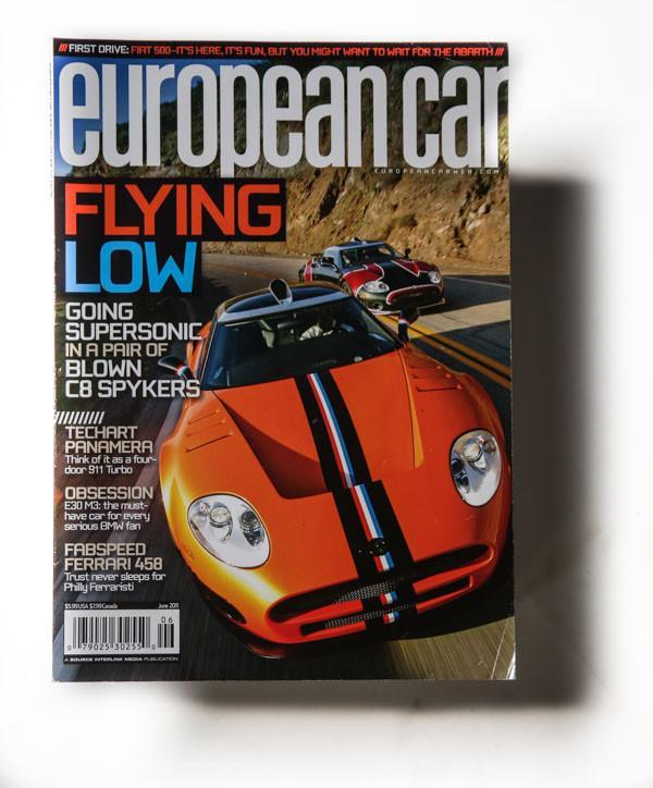 supercharged spyker featured in european car