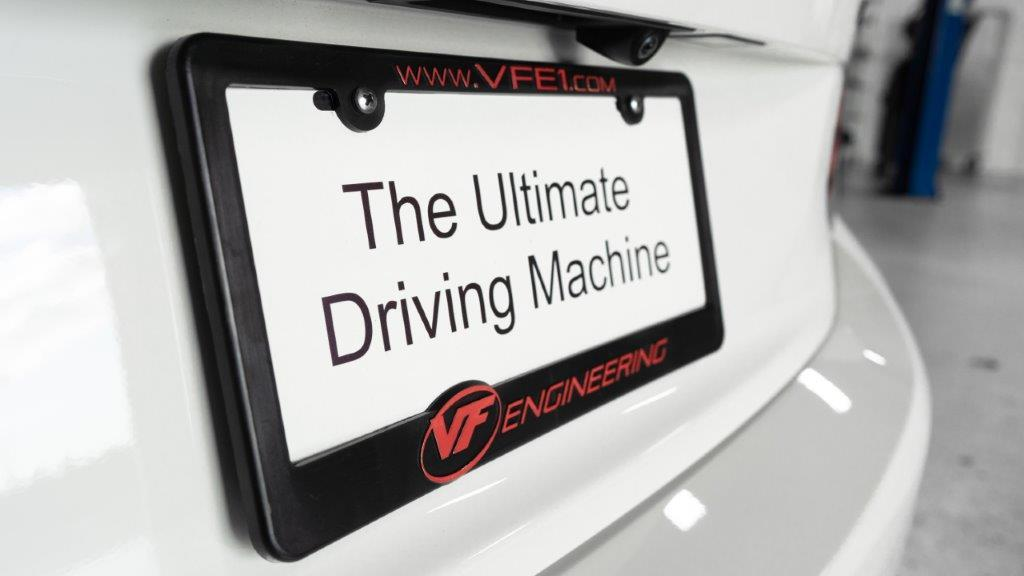 VF Engineering Plastic License Plate Frame
