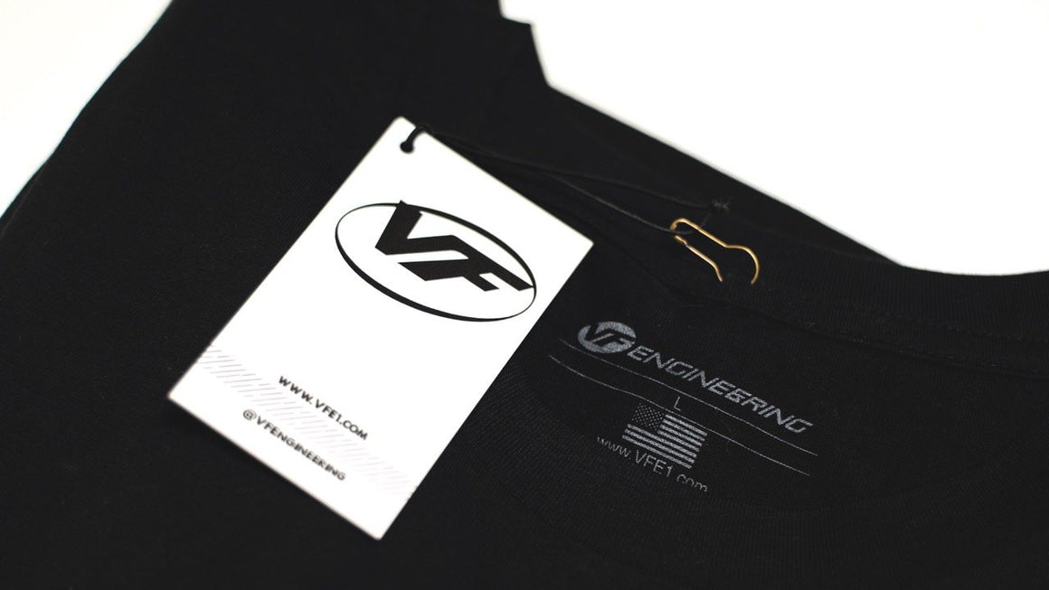 VF Engineering Yellow Logo T-Shirt - Black