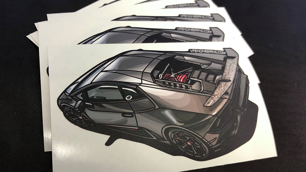 Huracan Performante - HYPERCHARGER - Die Cut Sticker