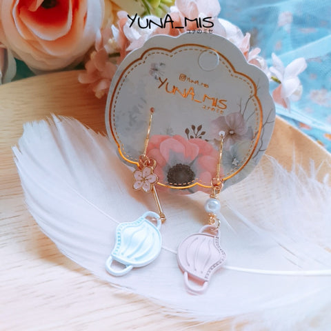[CHARITY] Sakura Mask Earring