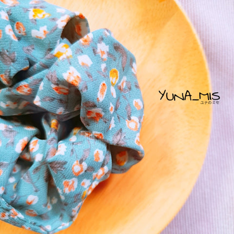 [Hair] 和式 Cottage Scrunchie in Blue