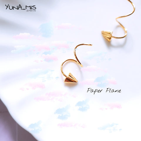 [ローズ] Childhood Paper Plane in Gold 童年纸飞机