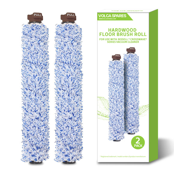 2 Pack Style 1926 Hardwood Floor Brush Roll for Bissell CrossWave Vacuums, OEM Part # 1608022 & 160-8022-Volca Spares