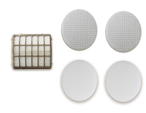 Hepa and Foam Filter Set Compatible with Shark Navigator Professional Canister Upright Vacuum NV70, NV80, NV90, NV95, UV420, OEM Part # XFF80 & XHF80-Volca Spares