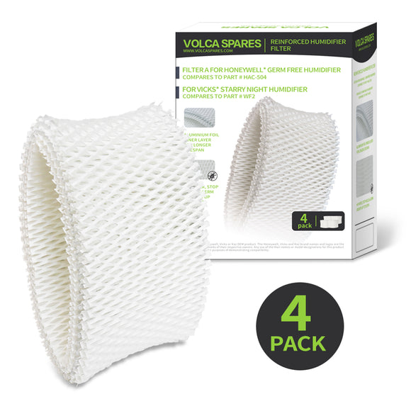 4 Pack Humidifier Wicking Filters, Compare to WF2, for Vicks & Kaz Humidifier-Volca Spares