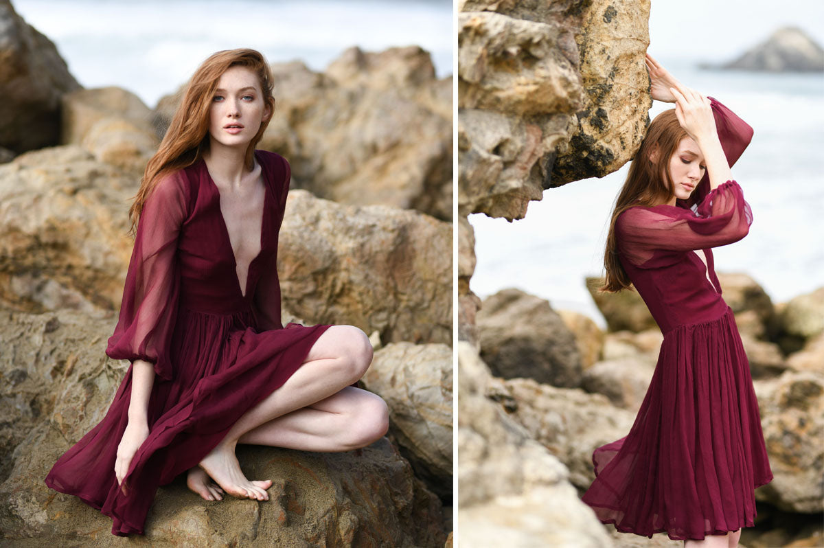 Alyssa Nicole Fall 2018 Collection. Simple luxury silk dress. Sustainable Luxury Dresses designed by Alyssa Nicole. Feminine, Ethereal, & Chic. Handcrafted in California· Made to Measure Apparel · Sustainably Sourced · Free Shipping