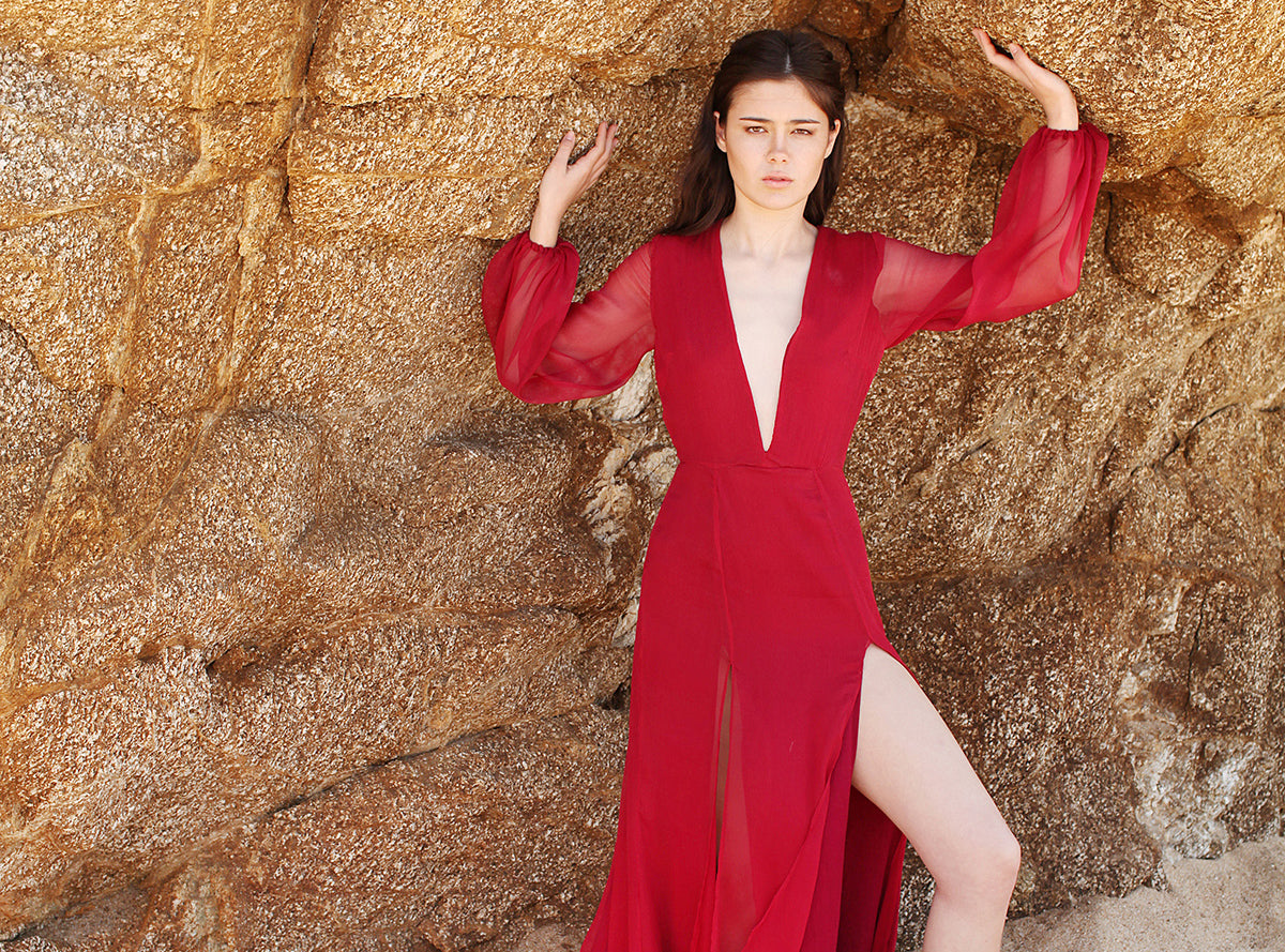 Red Gown Alyssa Nicole Fall 2015 Collection