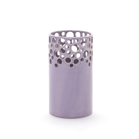 Lawrence McRae Lacey Vase #6 in Lavender