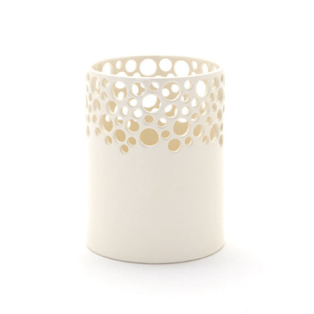 Large Candle Lacey Vase