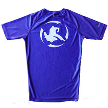Load image into Gallery viewer, Youth - Classic Rash Guard Blue and Black