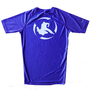 Youth - Classic Rash Guard Blue and Black