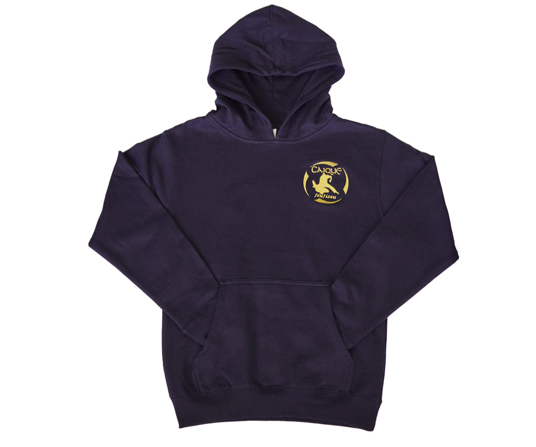 Youth - Pullover Hoodie Navy/Gold