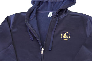 Poly Tech Zip-Up Jacket Navy/Gold