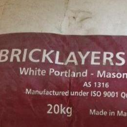 Cement Bagged Bricklayers Pure White 20kg