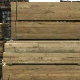 Timber Treated Pine Sleepers - 2.4m x 200mm x 50mm
