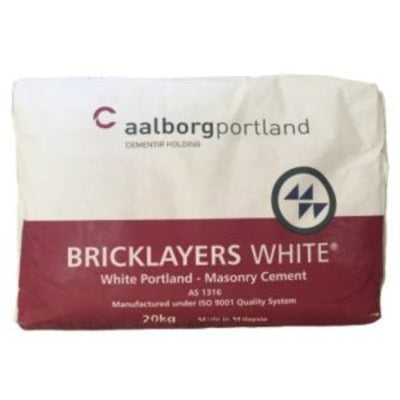 Bag Cement Bagged Bricklayers Pure White 20kg