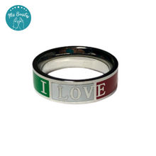 "Load image into Gallery viewer, México Ring ""I LOVE MEXICO-6"" - Anillo ""I LOVE MEXICO-6"" (6mm)"